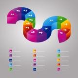 3d diagram Stock Foto's