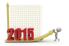 3d Diagrammkonzept des Mannes 2015 Stockfotografie