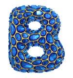 3D Diamantbrief B op geïsoleerd wit Royalty-vrije Stock Foto's