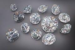 3D, diamante, joia, gema, brilhante Fotos de Stock Royalty Free