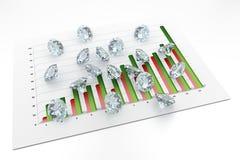 3D diamantes - carta Fotografia de Stock