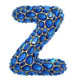 3D Diamond letter Z on white isolated. 3d rendering royalty free illustration