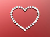 3d diamonds hearts Royalty Free Stock Images