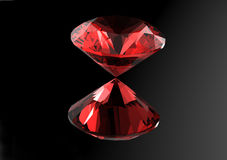 3D diamonds render. Jewelry gemstone. Garnet Royalty Free Stock Photography