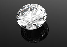 3D diamonds render. Jewelry gemstone Stock Photo