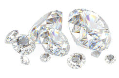 3d diamonds on white Stock Photo