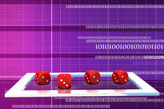3d dice illustration Royalty Free Stock Photo
