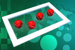 3d dice illustration Royalty Free Stock Image