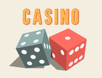 3D dices for Casino. Royalty Free Stock Image