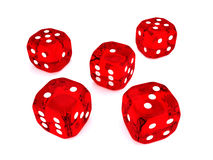 3d dices over white background Royalty Free Stock Images