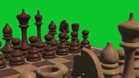 3d dichte omhooggaande de cameraanimatie van de schaakraad op groene van de het scherm nieuwe kwaliteit koele aardige blije video vector illustratie
