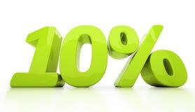 3D dieci per cento isolati Fotografia Stock
