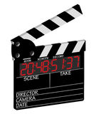 3D Digital Clapper Board Royalty Free Stock Images