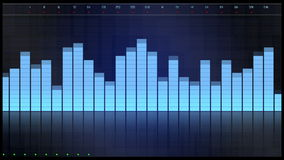 3D Digital equalizer blue interface. 3D Digital equalizer blue FUI interface royalty free illustration