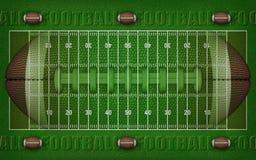 American Football Field Design With Balls Border – 3D Illustration stock illustration