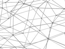 3d digital molecular mesh  on white. Abstract black shining 3d digital molecular mesh structure  on white background Stock Photo