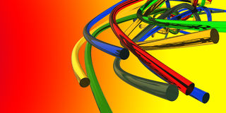 3D digital render of  abstract rings Royalty Free Stock Images