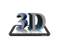 3D on the Digital Tablet Royalty Free Stock Image