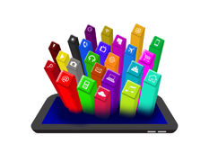 3D on the Digital Tablet Stock Images