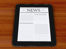 3d digital tablet pc with news. Media concept Royalty Free Stock Image
