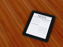 3d digital tablet pc with news. Media concept Royalty Free Stock Photo