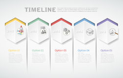 3D digital template Infographic for business concept. Royalty Free Stock Photo