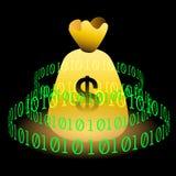 3d Digital waluta Zdjęcia Royalty Free