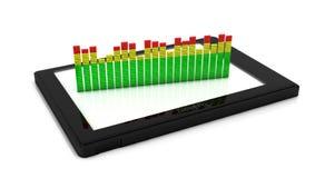 3d Digitale equaliser op een tablet royalty-vrije illustratie