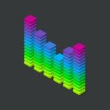 3d digitale kleurrijke equaliser stock illustratie