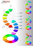 3D dimensions spiral stair Royalty Free Stock Images
