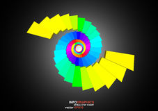 3D dimensions spiral stair. The 3D dimensions spiral stair white spectrum color for EPS 10 vector infographics Royalty Free Stock Image