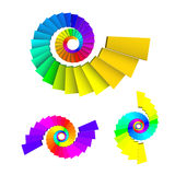 3D dimensions spiral stair Royalty Free Stock Image