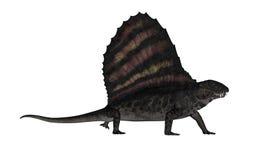 3D Dimetrodondinosaurus - geef terug royalty-vrije illustratie