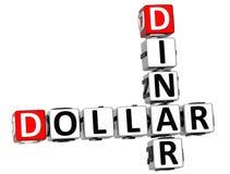 3D dinaru Dolarowy Crossword Zdjęcia Stock