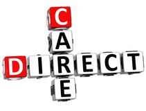 3D Direct Care Crossword text Stock Images
