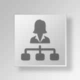 3D directeur Button Icon Concept illustration stock