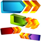 3d Directional Arrows. An image of a set of 3d directional arrows Stock Images
