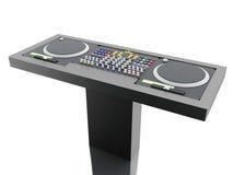 3D Disc jockey mixer. Stock Photography