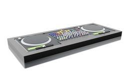 3D Disc jockey mixer. Stock Images