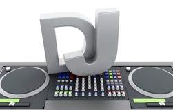 3d Disc jockey mixer. Royalty Free Stock Photo