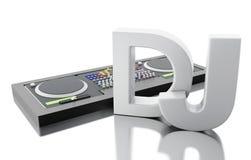 3d Disc jockey mixer. Royalty Free Stock Image