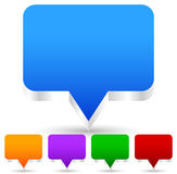 3d discorso, icone della bolla di conversazione (può essere usato come perni della mappa, marke della mappa Immagine Stock