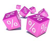 3d discount cubes Stock Image