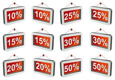 3D discount labels Stock Image