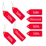 3d discount labels set Royalty Free Stock Photography