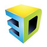 3d Display Technology Symbol Royalty Free Stock Photo