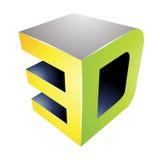 3d Display Technology Symbol Stock Photos