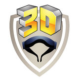 3d Display Technology Symbol Royalty Free Stock Photography