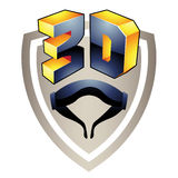3d Display Technology Symbol Stock Images