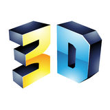 3d Display Technology Symbol Royalty Free Stock Images